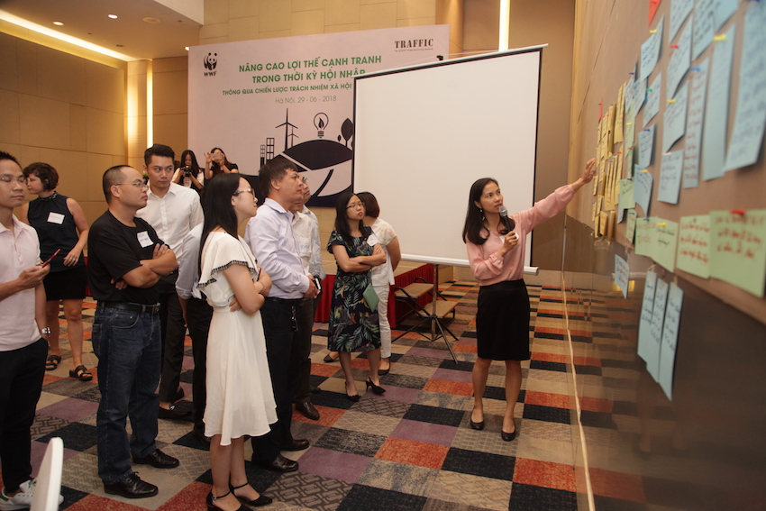 Members of Vietnamese and German companies take pledge against wildlife crime