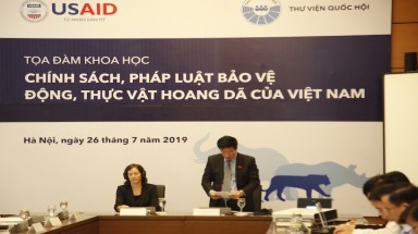 USAID works alongside Viet Nam's National Assembly on effective wildlife conservation through demand reduction