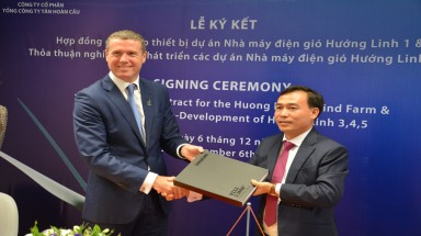 Vestas and THC collaborate on developing wind farms in Huong Linh, Quang Tri province